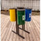 Kosz do segregacji odpadów Clover 4 x 30 L