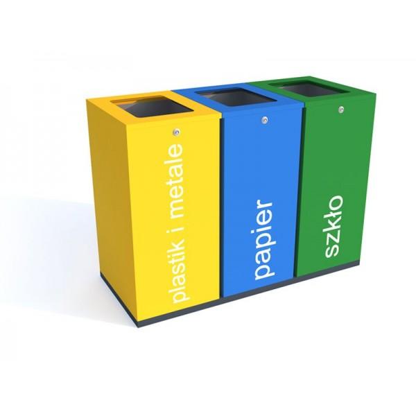 Kosz do segregacji Harmonics Color o pojemności 3 x 100 L