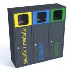 Pojemnik do segregacji odpadów Esterno 3 x 40 L