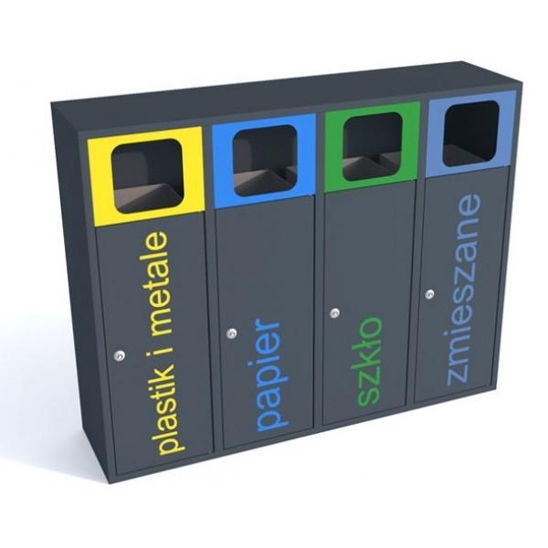 Pojemnik do segregacji odpadów Esterno 4 x 40 L