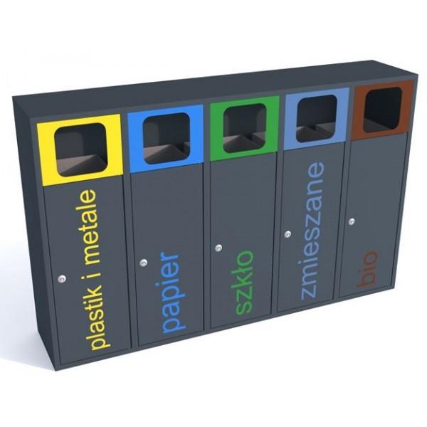 Pojemnik do segregacji odpadów Esterno 5 x 40 L