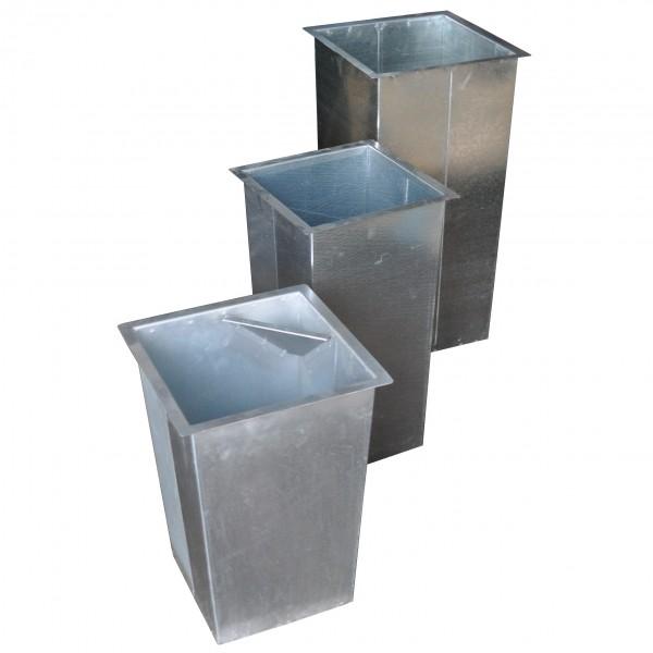 Wkład metalowy kwadratowy- stożkowy