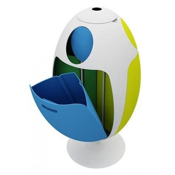 Kosz do segregacji śmieci Ovetto kolorowy 3 x 30 l