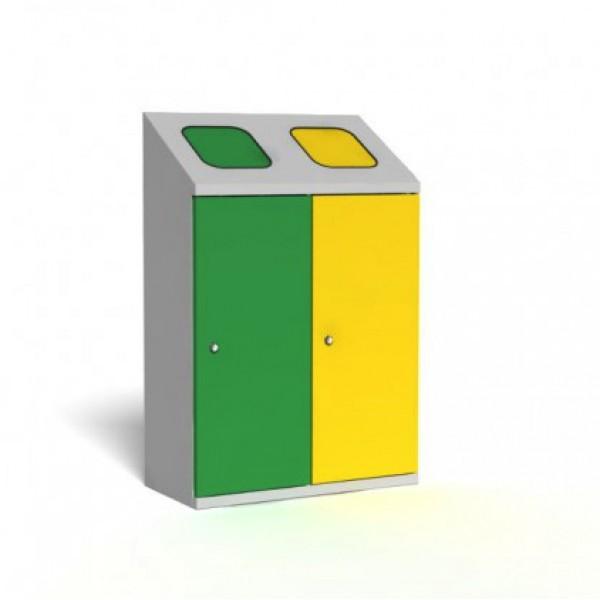 Pojemnik do wewnętrznej segregacji odpadów 2-modułowy