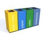 Kosz do segregacji Harmonics Color o pojemności 4 x 100 L