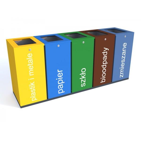 Kosz do segregacji Harmonics Color o pojemności 5 x 100 L