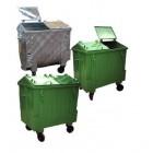 Pojemnik metalowy na odpady komunalne 1100 - klapa trójdzielna