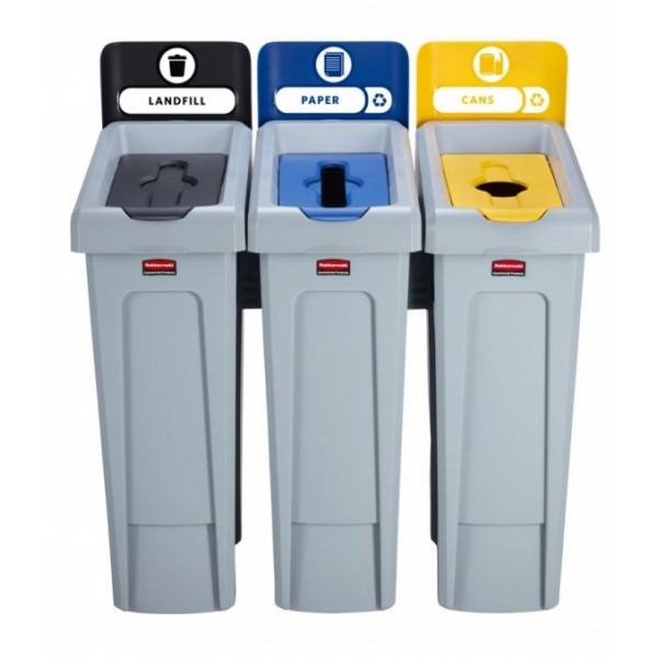 Stacja do segregacji odpadów Slim Jim 3 x 87 L