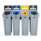 Stacja do segregacji odpadów Slim Jim 4 x 60 L
