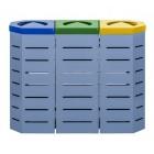 Zestaw do segregacji odpadów Metalic 3 x 80 L