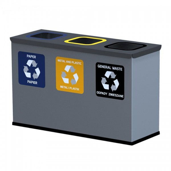 Pojemnik na odpady EKO STATION MINI 3 x 12 L