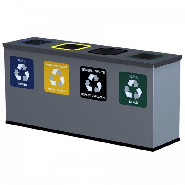 Pojemnik na odpady EKO STATION MINI 4 x 12 L
