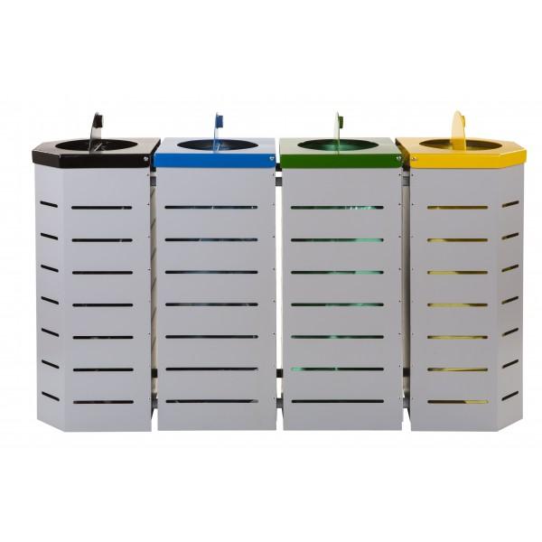 Zestaw do segregacji odpadów Metalic 4 x 80 L