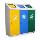 Pojemnik do wewnętrznej segregacji odpadów TETRIS 3 x 70 L
