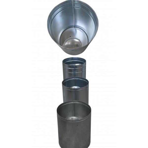 Wkład metalowy okrągły- prosty