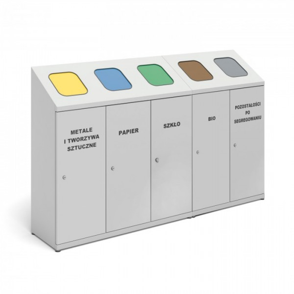 Pojemnik do wewnętrznej segregacji odpadów 5-modułowy