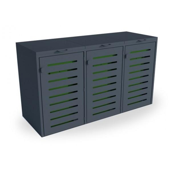 Zabudowa do pojemników na odpady o pojemności 3 x 120 L