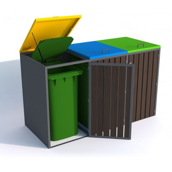 Zabudowa do pojemników na odpady o pojemności 3 x 240 L