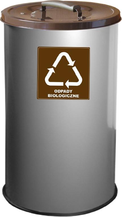 Brązowy na odpady biologiczne