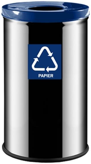 Niebieski do zbiórki papieru