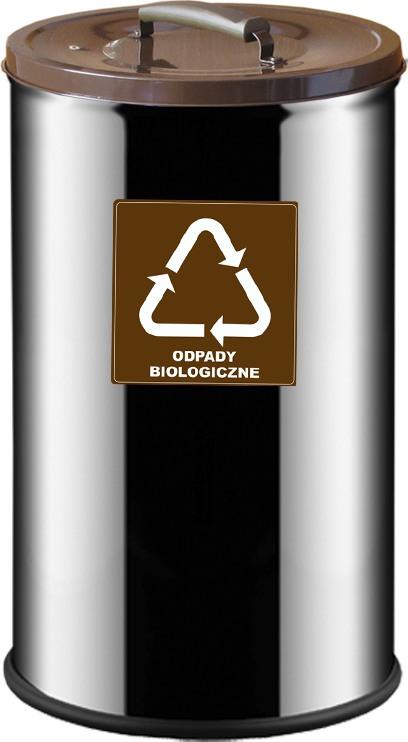 Pojemnik w kolorze brązowym na odpady biologiczne