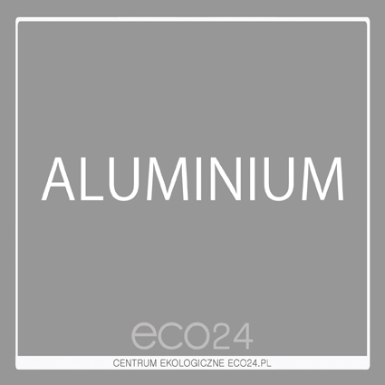 Naklejka kwadratowa Aluminium