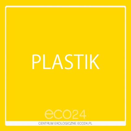 Naklejka na kosz do segregacji Plastik